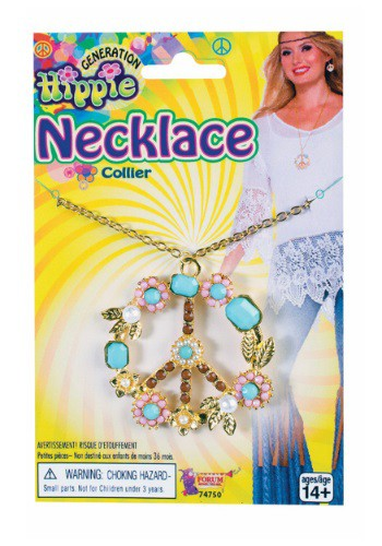 Image of Deluxe Hippie Peace Sign Necklace