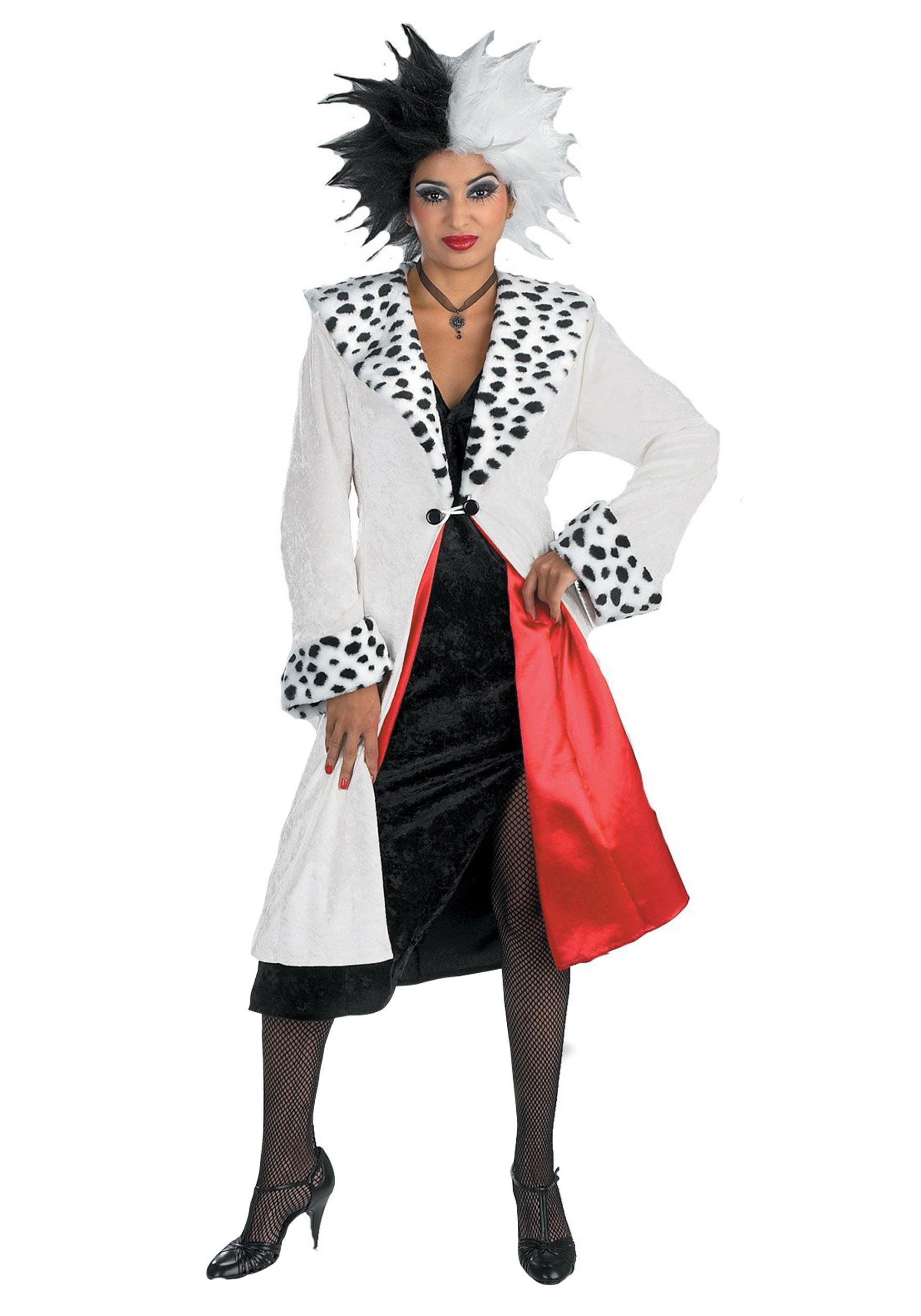 Prestige Adult Cruella Devil Costume  sc 1 st  Halloween Costumes & Prestige Adult Cruella De Vil Costume