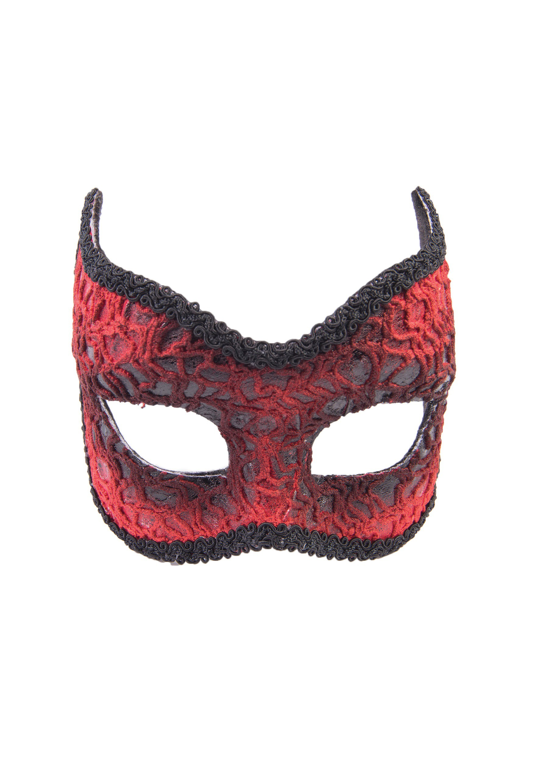 Adult Red Lace Devil Mask FO75147