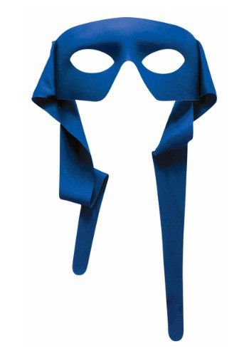 Image of Blue Tie-On Eye Mask