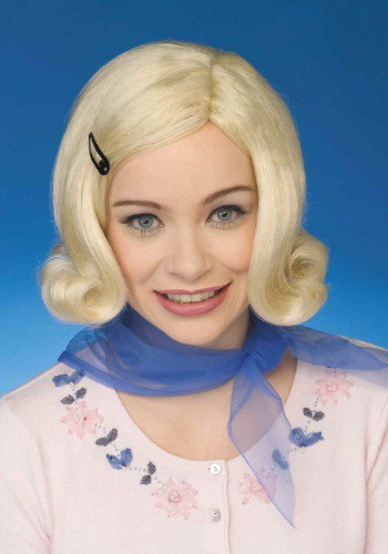 Click Here to buy Womens 50s Bopper Blond Wig from HalloweenCostumes, CDN Funds