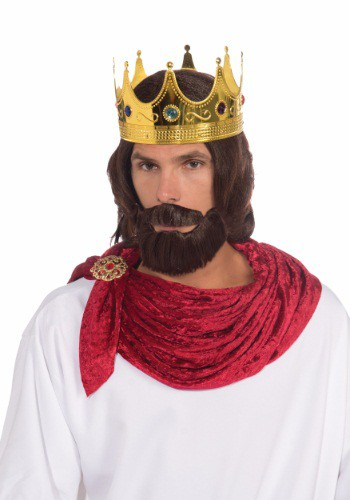 Adult Royal King Wig And Beard Set