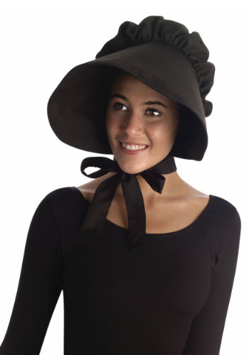 Women's Black Pioneer Bonnet