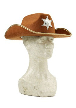 Child Brown Cowboy Hat w/ Badge
