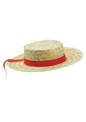 Adult Straw Gondolier Hat