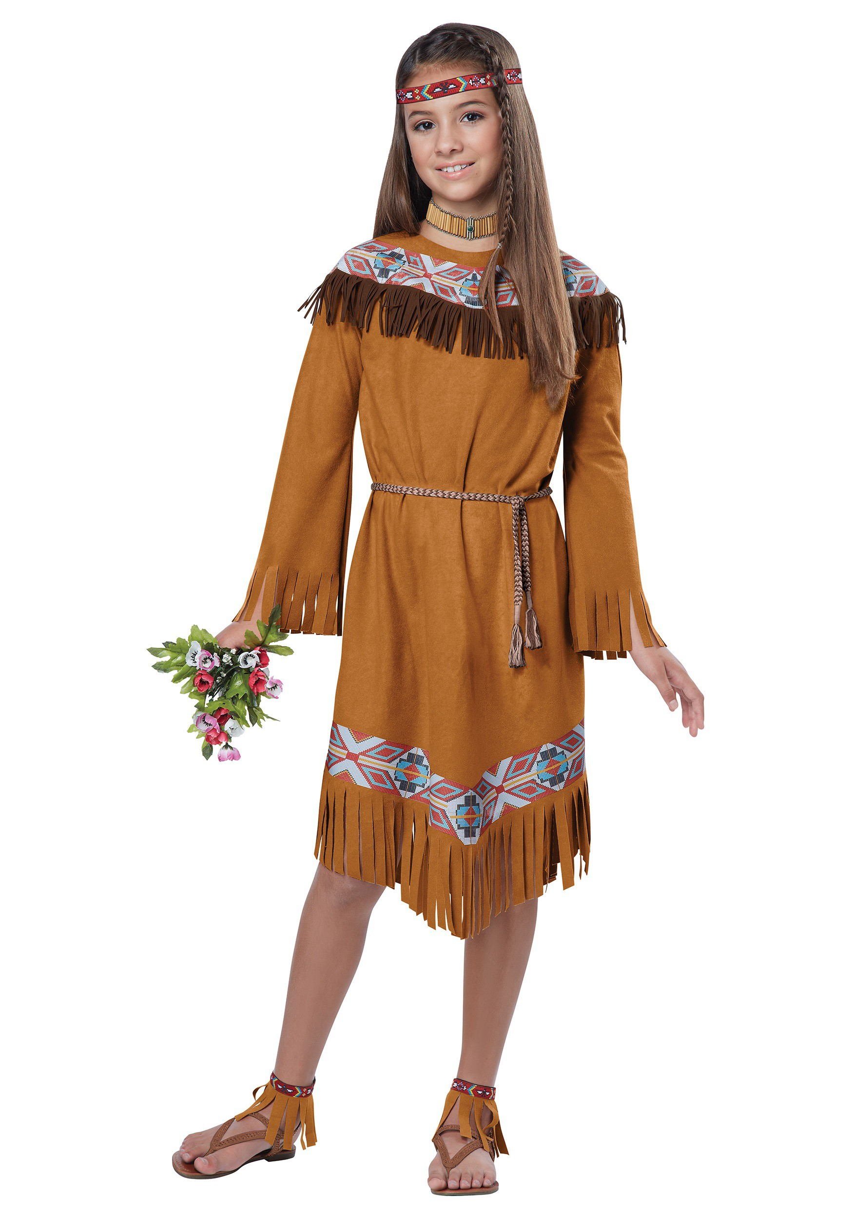 Child Classic Indian Girl Costume  sc 1 st  Halloween Costumes & Child Classic Native American Girl Costume
