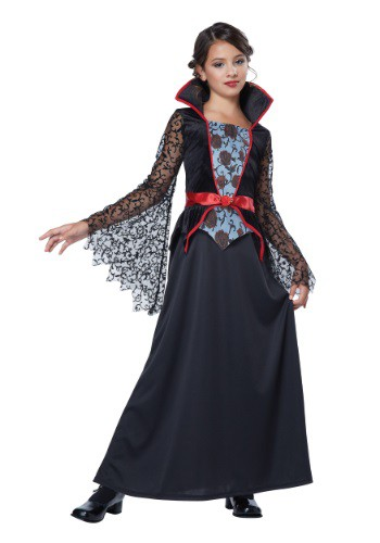 Click Here to buy Girls Countess Bloodthorne Vampiress Costume from HalloweenCostumes, USA Funds & Shipping