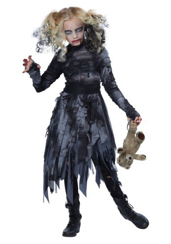 Click Here to buy Kids Zombie Girl Costume from HalloweenCostumes, USA Funds & Shipping