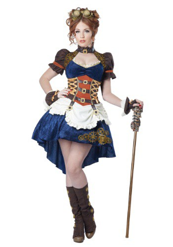 Women's Plus Size Steampunk Fantasy Costume