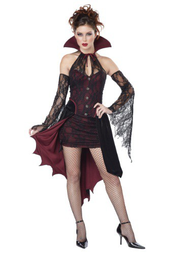 Click Here to buy Womens Plus Size Vampire Vixen Costume from HalloweenCostumes, USA Funds & Shipping