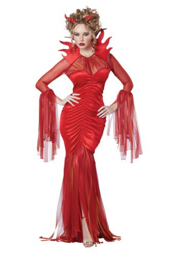 Click Here to buy Womens Devilish Diva Costume from HalloweenCostumes, USA Funds & Shipping