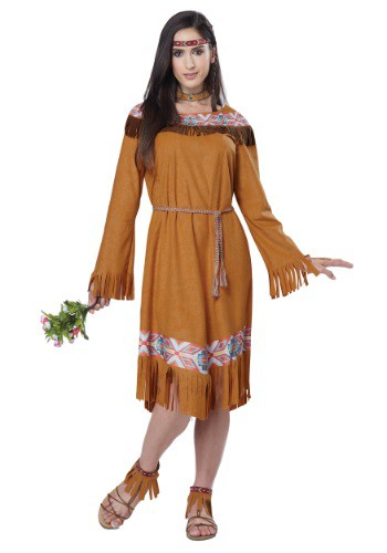 Click Here to buy Classic Native American Maiden Womens Costume from HalloweenCostumes, USA Funds & Shipping