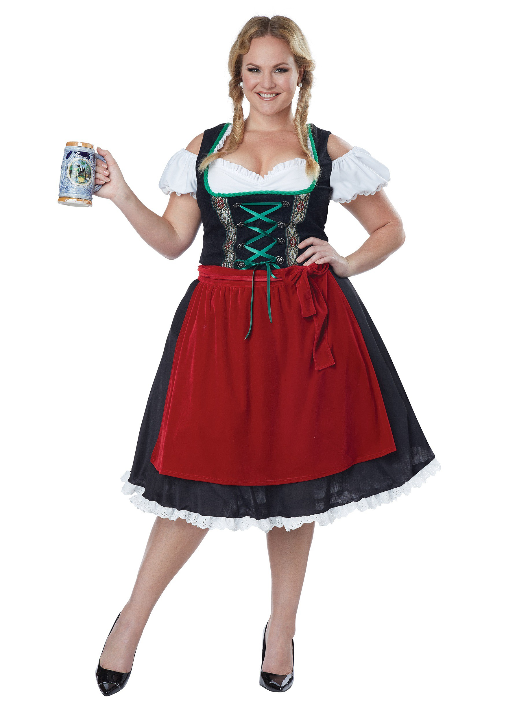 women 39 s plus size oktoberfest fraulein costume. Black Bedroom Furniture Sets. Home Design Ideas