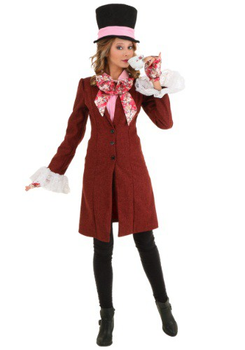 Click Here to buy Deluxe Plus Size Womens Mad Hatter Costume from HalloweenCostumes, USA Funds & Shipping