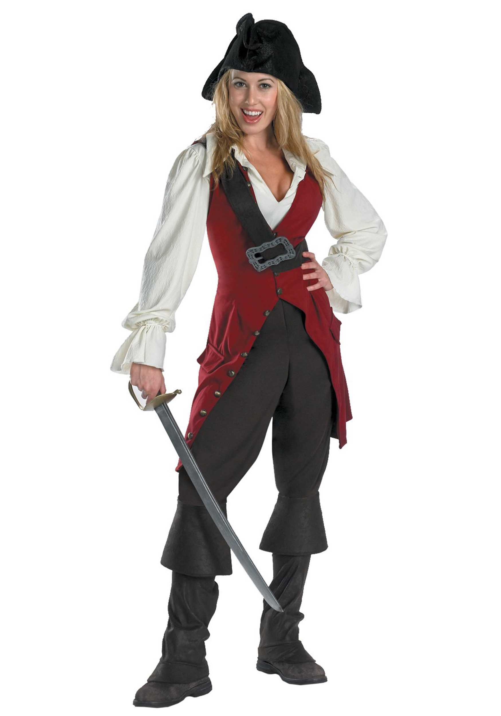 Excellent Womens Costume Pirate Shirt  Womens Wild White Pirate Blouse