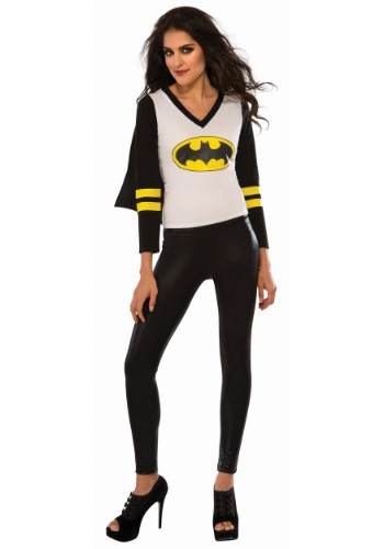 Click Here to buy Womens Batgirl Sporty Tee w/ Cape from HalloweenCostumes, CDN Funds