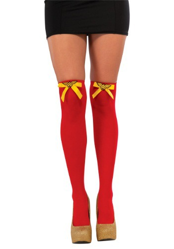 Wonder Woman Thigh High Stockings By: Rubies Costume Co. Inc for the 2015 Costume season.