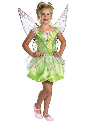 Prestige Kids Tinkerbell Costume  sc 1 st  Halloween Costumes & Peter Pan u0026 Tinkerbell Costumes - HalloweenCostumes.com