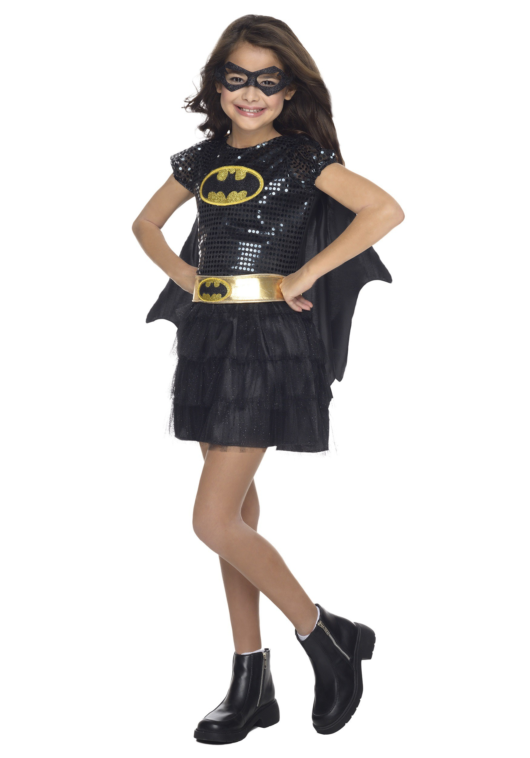 Results 181 240 of 644 for indoor halloween decorations - Toddler Batgirl Sequin Costume