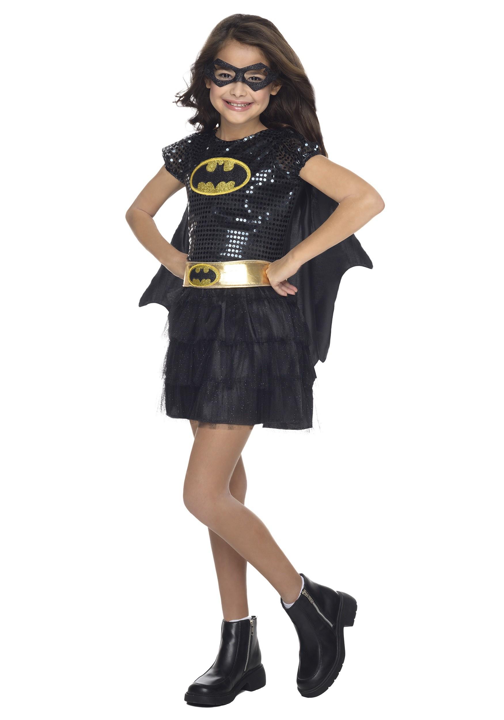 Child Batgirl Sequined CostumeBatgirl Costumes