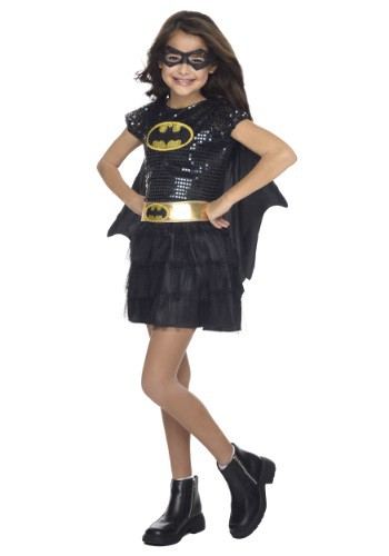 Click Here to buy Kids Batgirl Sequined Costume from HalloweenCostumes, CDN Funds