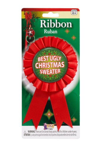 Ugliest Christmas Sweater Award Ribbon By: Forum Novelties, Inc for the 2015 Costume season.