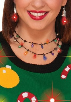 Christmas Lights Necklace New