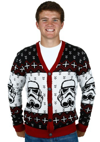 Star Wars Stormtrooper Men S Ugly Christmas Cardigan