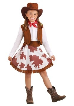 Girls Sweetheart Cowgirl Costume new main