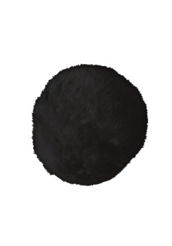 Deluxe Black Plush Bunny Tail