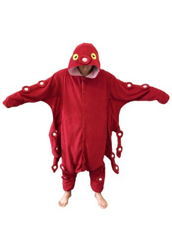 Image of Red Octopus Pajama Costume