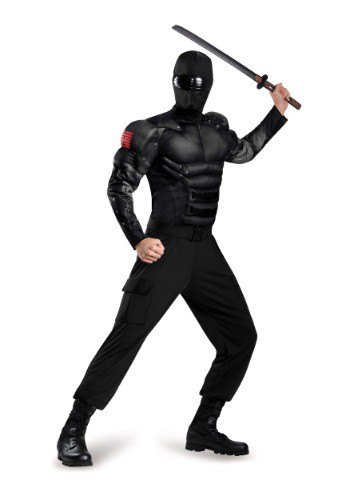 Click Here to buy Adult Snake Eyes Classic Muscle Costume from HalloweenCostumes, USA Funds & Shipping