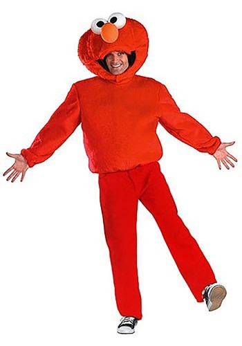 Get together with Big Bird for a fun night out in this adult Elmo costume!