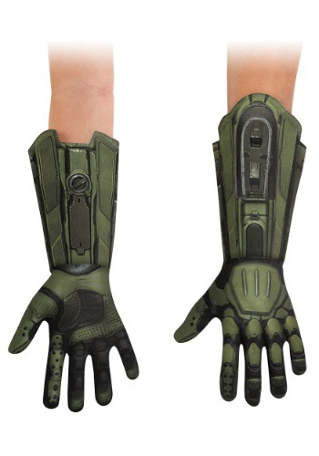 Click Here to buy Master Chief Deluxe Kids Gloves from HalloweenCostumes, USA Funds & Shipping