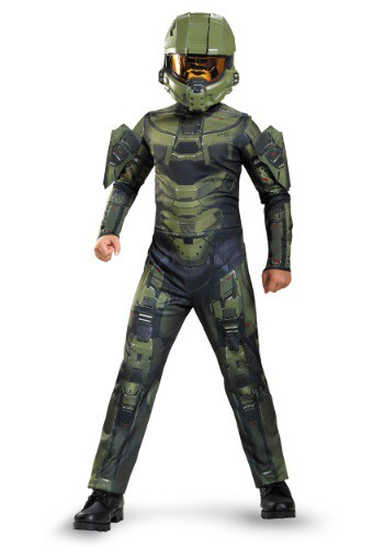 Click Here to buy Boys Master Chief Classic Costume from HalloweenCostumes, USA Funds & Shipping