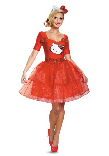 Hello Kitty Adult Deluxe Costume By: Disguise for the 2015 Costume season.