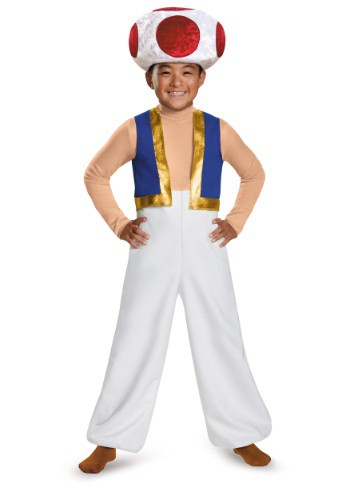 Click Here to buy Boys Toad Deluxe Costume from HalloweenCostumes, CDN Funds