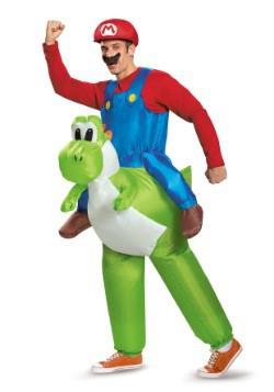 Mario Riding Yoshi Adult Costume