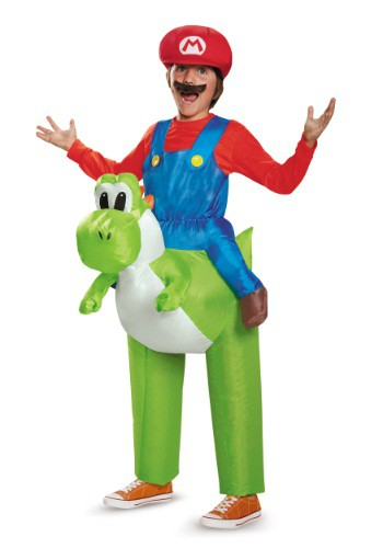 Click Here to buy Mario Riding Yoshi Kids Costume from HalloweenCostumes, USA Funds & Shipping