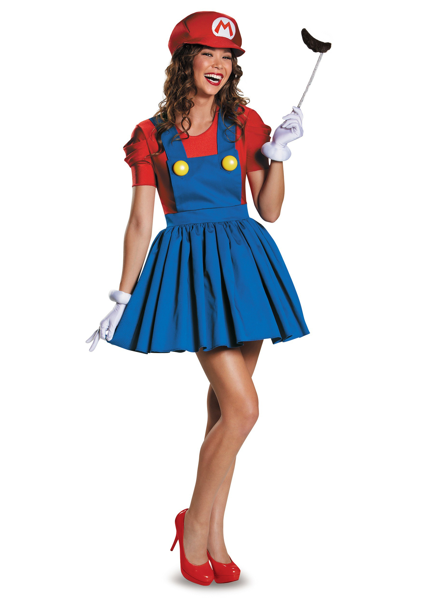 Womens Mario Skirt Costume  sc 1 st  Halloween Costumes & Womenu0027s Mario Skirt Costume
