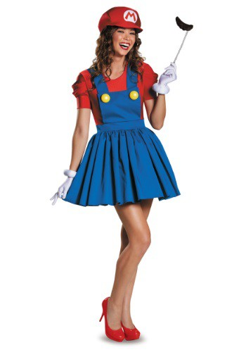 Click Here to buy Womens Mario Skirt Costume from HalloweenCostumes, CDN Funds