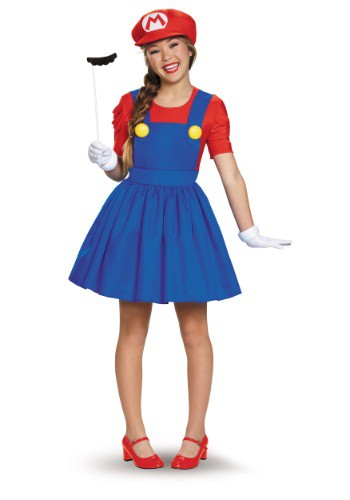 Click Here to buy Tweens Mario Skirt Costume from HalloweenCostumes, USA Funds & Shipping