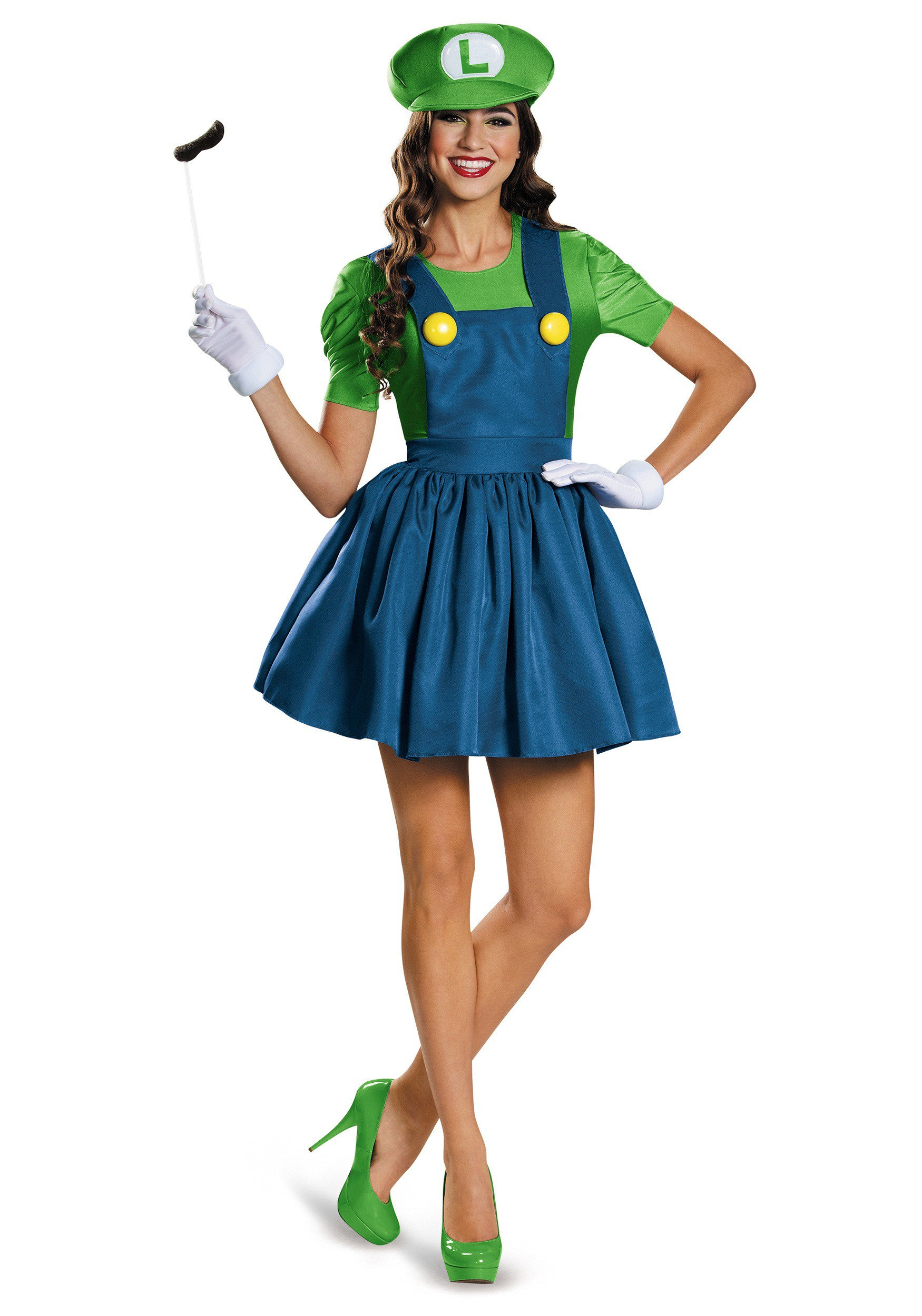 womens luigi dress costume