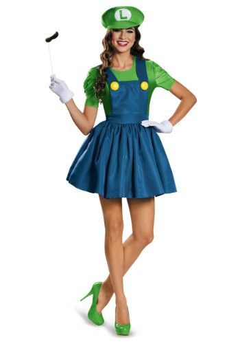 Click Here to buy Womens Luigi Dress Costume from HalloweenCostumes, USA Funds & Shipping