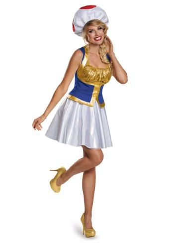Mario Womens Toad Dress Costume