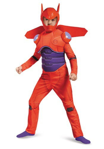 Boys Red Baymax Deluxe Costume DI87689-L