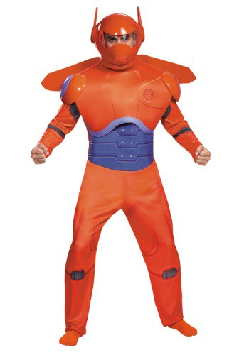 Click Here to buy Adult Red Baymax Deluxe Costume from HalloweenCostumes, CDN Funds