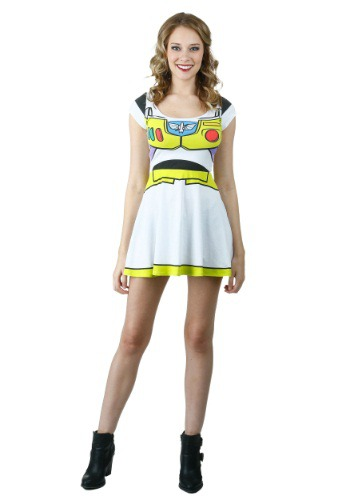 Click Here to buy Toy Story I Am Buzz Skater Dress from HalloweenCostumes, USA Funds & Shipping