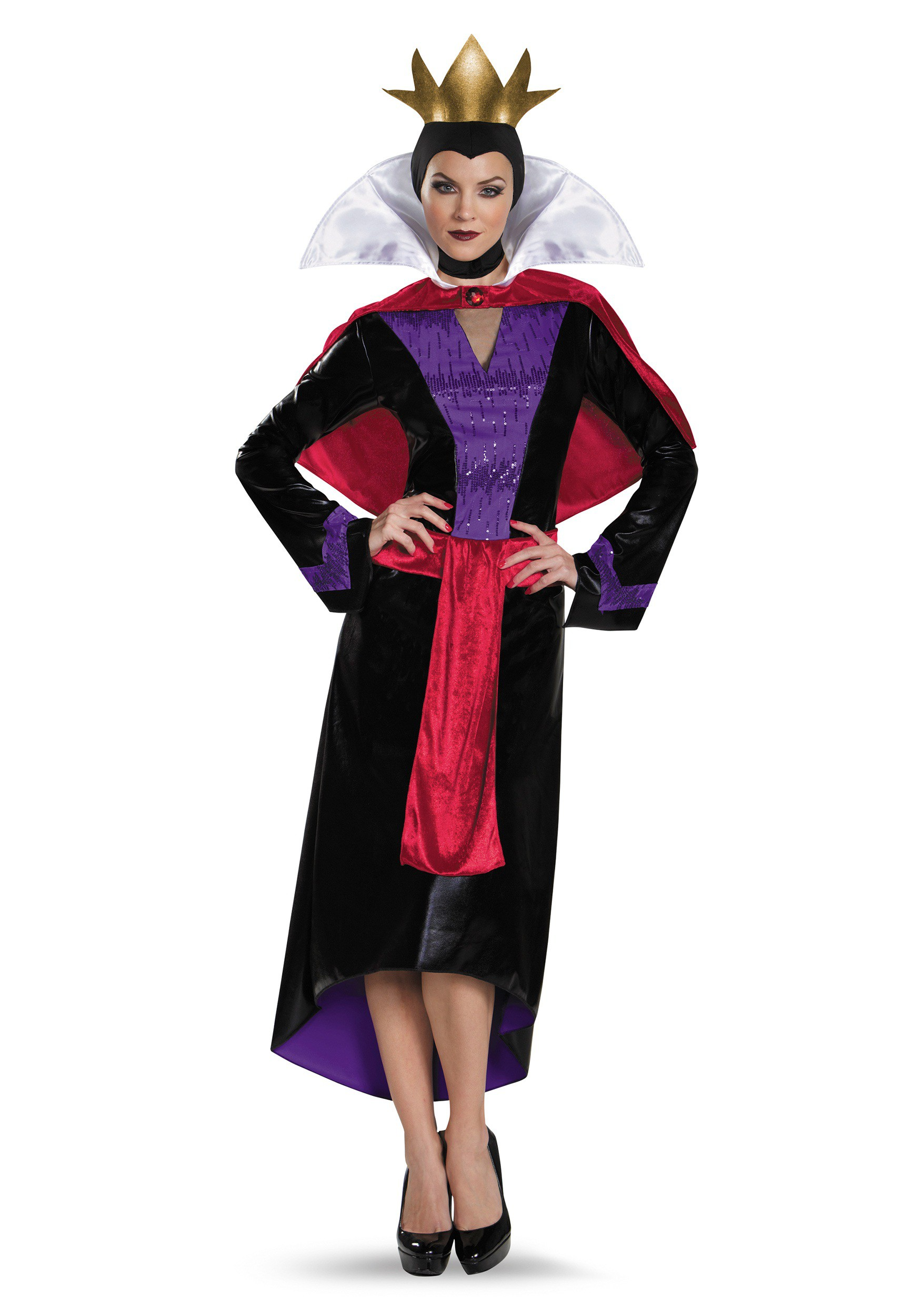 Womens Deluxe Evil Queen Costume  sc 1 st  Halloween Costumes & Disney Villains Costumes - Adults Kids Disney Character Costumes