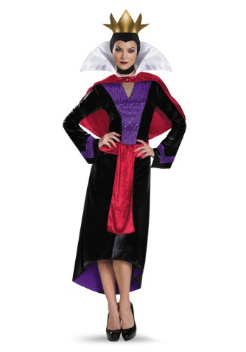 Click Here to buy Womens Deluxe Evil Queen Costume from HalloweenCostumes, CDN Funds